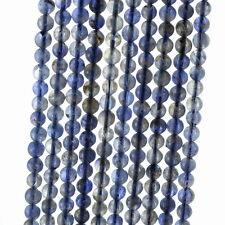 "4MM BERMUDAN BLUE IOLITE GEMSTONE  ROUND LOOSE BEADS 15.5"""