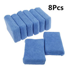 8Pcs Blue Car Cleaning Detailing Sponge Cloths Wax Polishing Pads 12cm*8cm*3.5cm