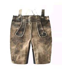 hombre pantalón de Cuero Traje de cuero cortos Traje Marrón Talla 50 #43