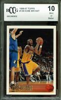 1996-97 Topps #138 Kobe Bryant Rookie Card BGS BCCG 10 Mint+