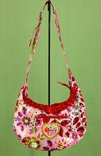 268 NWT Oilily Women/ Girls colorful cross body hobo Bag Purse flower print