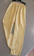 ⛵� Jigsaw Vtg Pants High Waist Silky Parachute Loose Fit Pockets Goldenrod Xs-S
