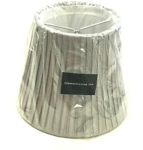 Urbanest Living Silver Metallic Silk Empire Mini Clip-On Lamp Chandelier Shade
