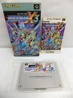 """SFC SNES """" ROCKMAN X3 X 3 """" MEGAMAN CAPCOM SUPER FAMICOM BOXED JAPAN"""