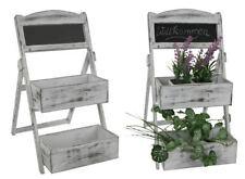 Blumenregal 2 Böden weiß - Pflanztreppe Blumen Treppe Regal Bank Etagere Leiter