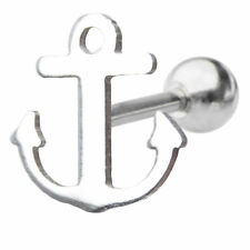 Sea Anchor Tragus Barbell Body Jewelry rook 16g 6mm length Cartilage