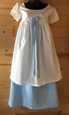 custom jane austen regency 1812 Colonial  Empire waist dress Cotton