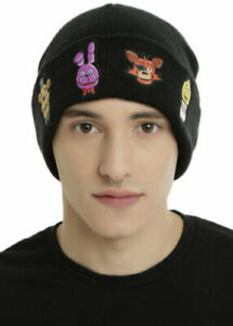 LICENSED FIVE NIGHTS AT FREDDY'S CHARACTERS WATCHMAN BEANIE... FREE SHIPPING