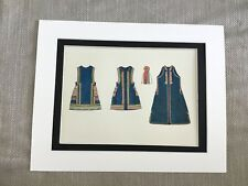 Antique Costume Print Bosnian Slavic Vest Dress Historical Fashion Textiles
