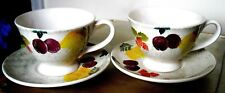 ROYAL WINTON SEVILLE SPONGEWARE BREAKFAST CUP AND SAUCER X 2