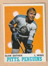 HOCKEY CARD NHL 1970-71 GLEN SATHER  PITTSBURG PENGUINS OPC #205