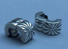 PANDORA STERLING SILVER PAIR OF 'FIREWORK' STOPPERS/CLIPS #790210