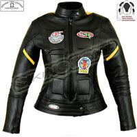 LADIES KILL BILL STYLE WOMENS BLACK MOTORBIKE / MOTORCYCLE LEATHER JACKET
