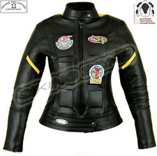 LADIES KILL BILL STYLE WOMENS BLACK MOTORBIKE / MOTORCYCLE LEATHER JACKET