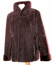 FAUX FUR LINED BLACK VELVET LIKE SHORT JACKET UK M-LG BUST 50""