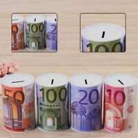1x Plastic Coin Money Tin Box Piggy Bank Novelty Savings Coin Lizzj QeOOd