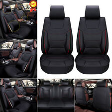 Microfiber Leather Neck&Lumbar Pillow Seat Cover 5 Seats Car Front+Rear Cushions