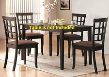 Dark Brown Framed back Modern Dining Chairs 6pc set Espresso Finish Furniture