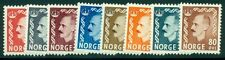 Norway #310-17 Haakon set, og, Nh, Vf, Scott $63.50
