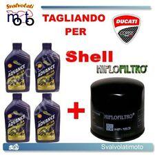 TAGLIANDO FILTRO OLIO + 4LT SHELL ADVANCE ULTRA 15W50 DUCATI 1098 S 2007 2008