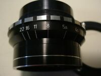 Friedrich Munchen/Rolyn #1390 vintage lens Axinon f 4.5 / 135mm with iris NOS -x