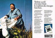 PUBLICITE 1972   VEDETTE  lave linge machine à laver ( 2 pages)