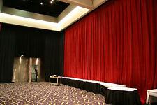 Fire Retardant velvet stage theatre curtains drapes 6m x 6m black RRP $2790 !!