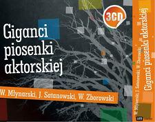 Giganci Piosenki Aktorskiej - Mlynarski, Satanowski, Zborowski (CD 3 disc)  NEW