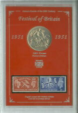 More details for the festival of britain south bank london crown coin stamp display gift set 1951