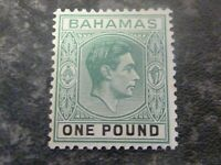 BAHAMAS POSTAGE STAMP SG157A ONE POUND GREEN LIGHTLY MOUNTED MINT