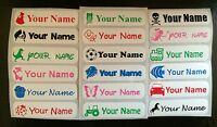 10 Personalised Iron On School,Nursery,Care home Clothes, Name Labels