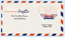 US 1957 Airmail First Day Cover Rate Change Special Delivery Red Meter