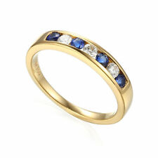 Natural Sapphire Yellow Gold Fine Rings