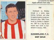 258 GEOFF BUTLER #  SUNDERLAND.FC STICKER FKS WONDERFUL WORLD OF SOCCER 1969