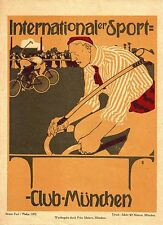 Original vintage poster print SPORTS-CLUB MUNICH CYCLE POLO 1902