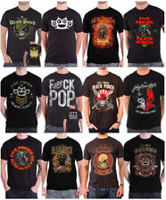 Graphic Tee Band Solid T-Shirts for Men