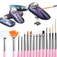 DIY Art Gradient Manicure Acrylic Brushes UV Gel Nail Brush Liner Painting Pen