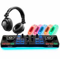 Hercules DJ-Party Set - DJControl Starlight Controller mit Kopfhörer