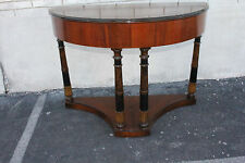 Gorgeous Art Deco Walnut Console Table Signed by the Shaw Furniture, Co. Mass.