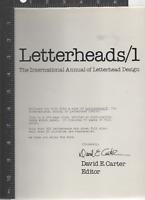 Letterheads / 1 The International Annual of Letterhead Design 1982 HC/dj VG