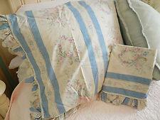 ❤️ VERY Rare RALPH LAUREN SAMANTHA KING ruffle Pillowcases roses floral ❤️
