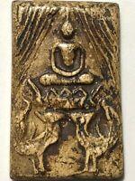 PHRA LP MHOON RARE OLD THAI BUDDHA AMULET PENDANT MAGIC ANCIENT IDOL#33