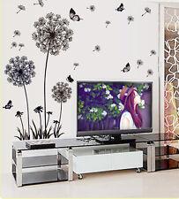 Removable Wall Art Sticker Vinyl Decal Black Dandelion DIY Room Home Mural Decor