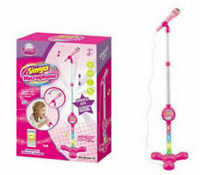 Kids Singer Microphone Stand ktv Toy With Light Educational Toy For 3years