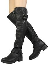 Womens Riding Boots Over The Knee Tall High Up Dream Pairs Black Size 11 M US