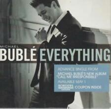 Michael Buble: Everything Advance Single w/ Artwork MUSIC AUDIO CD snippets 4trk