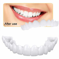 2PCs Upper+Bottom Teeth Whitening Snap On Perfect Smile Comfort Fit Flex Veneers