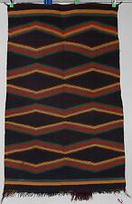 Early Navajo rug saddle blanket Native American textile weaving Germantown