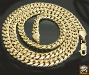 "10k Gold Miami Cuban Necklace 20""- 32"" Inch Link Chain Box /Lobster Lock REAL"