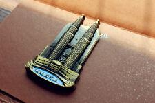 Malaysia, Kuala Lumpur, Petronas Towers Tourist Souvenir 3D Metal Fridge Magnet